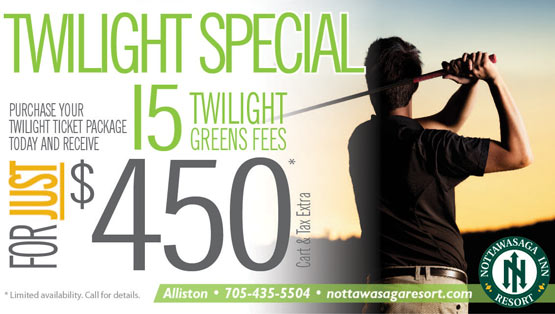 Twilight Golf Discount Special